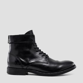 Men's BOOSTER lace up leather mid boots