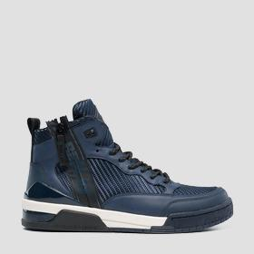 Men's UNITED lace up mid cut sneakers