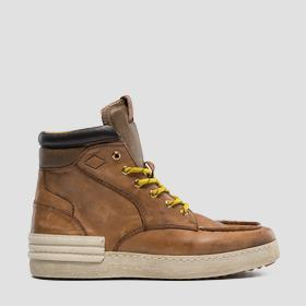 Men's BETIZ lace up mid cut leather sneakers