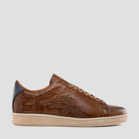 Men's FAREHAM lace up leather sneakers