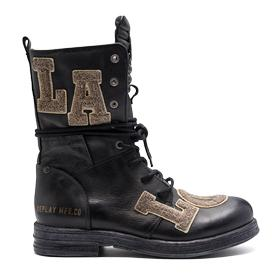Women's SEARCY leather boots with maxi patch logos gwl26 .000.c0043l