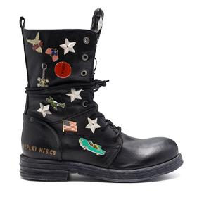 Women's SEARCY leather boots with brooches gwl26 .000.c0044l
