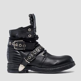 Women's LEAF lace up leather ankle boots