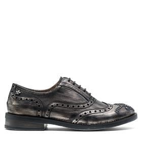 Women's NOELA derby shoes with brush off effect and studs gwl46 .000.c0005s