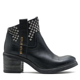 Women's RUMBLE leather ankle boots with studs gwn44 .000.c0001l