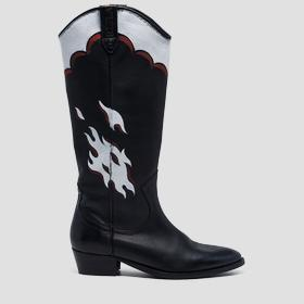 Women's DENYSE leather high boots