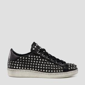 Women's WOODMOOR lace up leather sneakers
