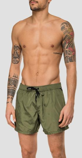 Swimming trunks with drawstring