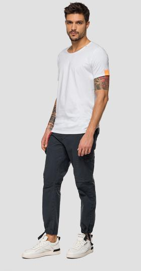 Cotton t-shirt with R-shaped embroidery