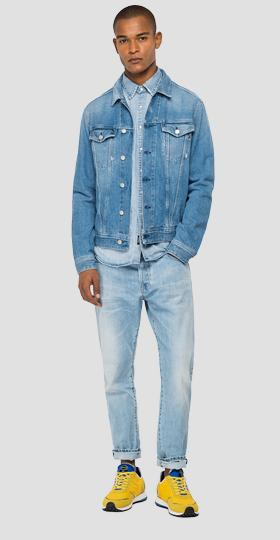 Denim jacket with used effect