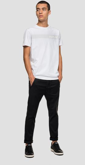 T-shirt with tone-on-tone striped print