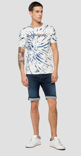T-shirt with tie&dye treatment