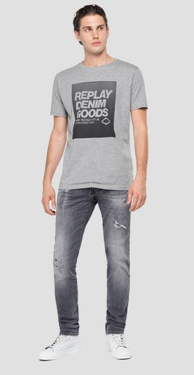 REPLAY crewneck t-shirt with print