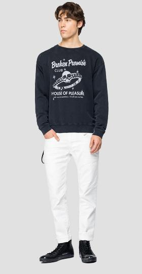 Crewneck sweatshirt with print