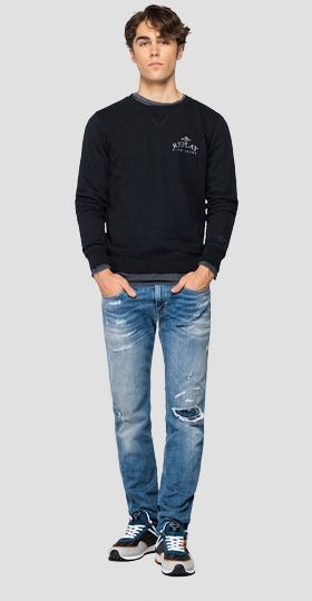 Organic Cotton REPLAY BLUE JEANS sweatshirt