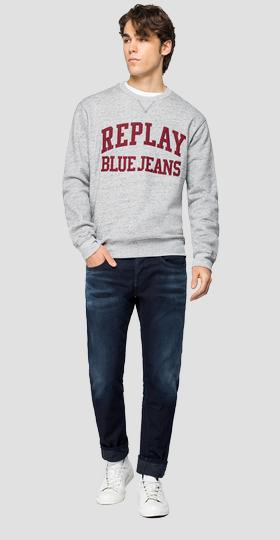 Sweatshirt with REPLAY BLUE JEANS embroidery