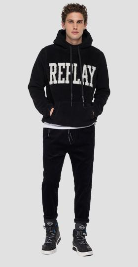 REPLAY sweatshirt in eco-fur