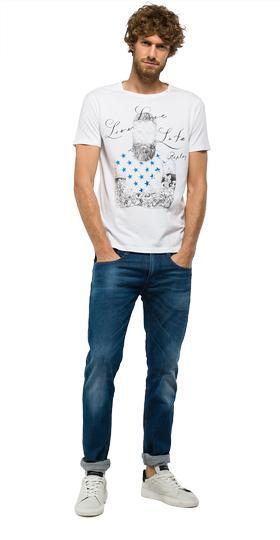Cotton T-shirt with illustration print m3283 .000.2660