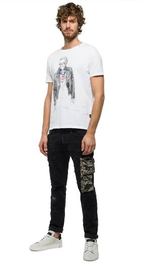 Illustration printed T-shirt m3284 .000.2660