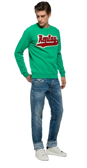 Sweatshirt with REPLAY patch m3291 .000.21842