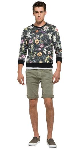 Sweatshirt with all-over floral print m3296a.000.71278