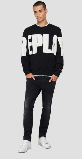 Crewneck sweatshirt with REPLAY print
