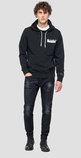 Hoodie with REPLAY print