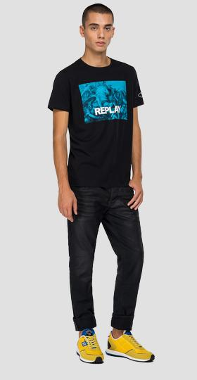 REPLAY t-shirt with checked print