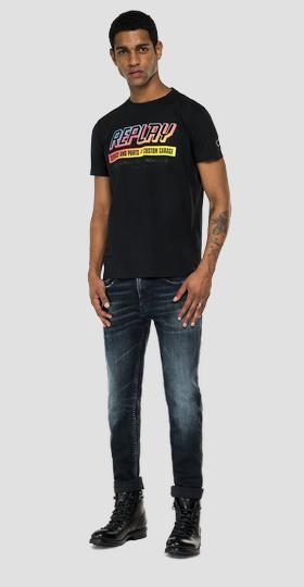 REPLAY THE MOTORCYCLE ENTHUSIAST print t-shirt