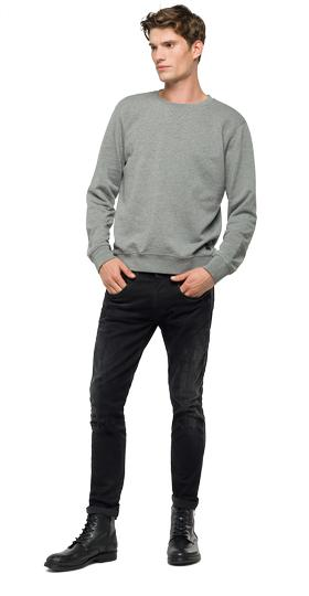 Solid cotton sweatshirt m3445 .000.22390