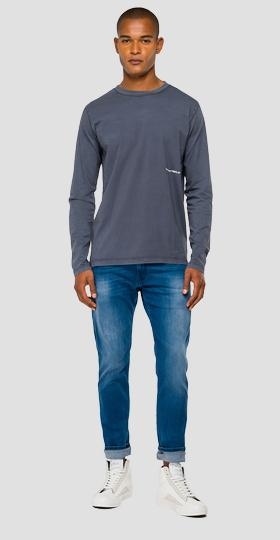 Long-sleeved t-shirt in organic cotton