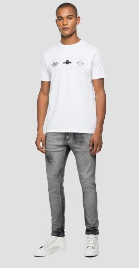 Jersey t-shirt with archive REPLAY BLUE JEANS graphic