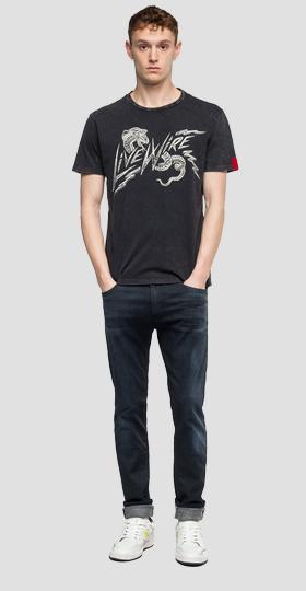 LIVE WIRE writing t-shirt