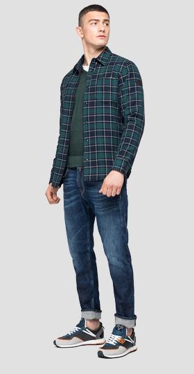REPLAY BLUE JEANS checked shirt