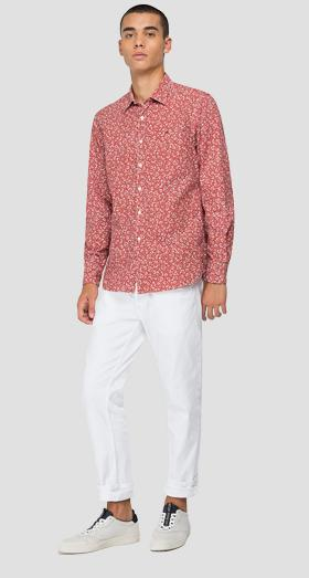 Shirt in printed cotton