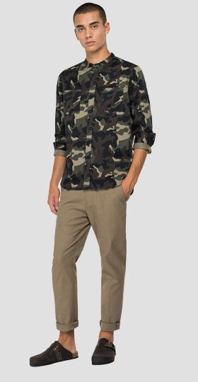 REPLAY shirt in camouflage twill