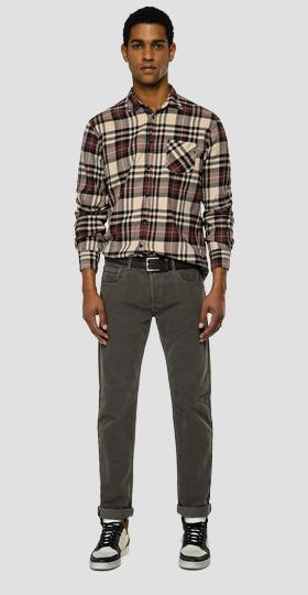 Checked light flannel shirt
