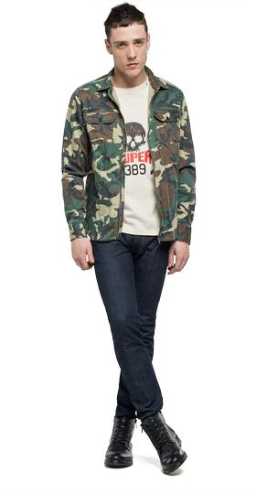 Camouflage satin shirt m4930a.000.70505