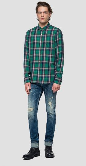 Shirt with checked pattern