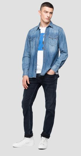 REPLAY denim shirt with pockets