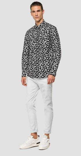 Cotton shirt with floral print