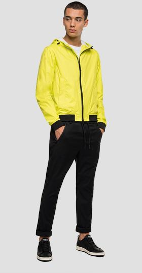 Jacket with hood and pockets