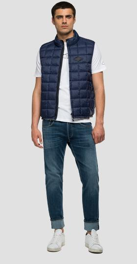 Quilted turtleneck waistcoat in recycled nylon