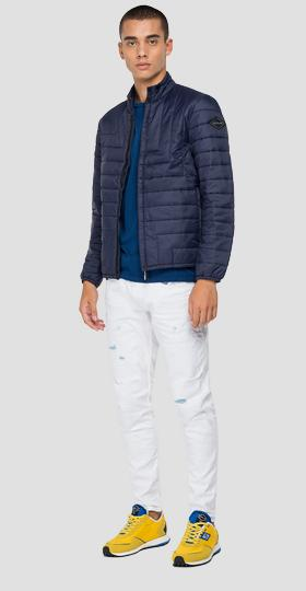 Turtleneck quilted jacket in recycled nylon