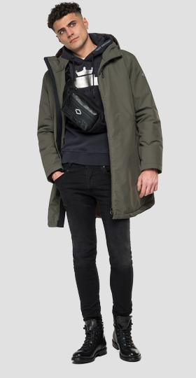 Mid weight recycled jacket with hood