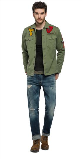 Baumwolljacke mit Patches m8825 .000.82902