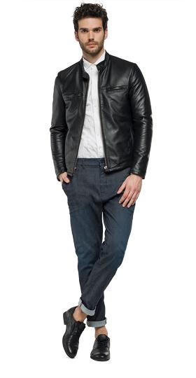Padded Thindown leather jacket m8893 .000.82926t