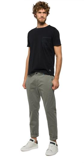 Tapered-fit cotton trousers m9551t.000.80623