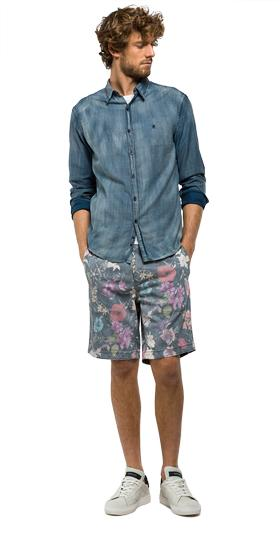 All-over floral print bermuda shorts m9567 .000.70485