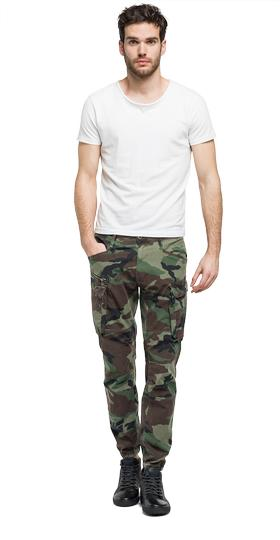 Camouflage satin trousers m9584 .000.70511
